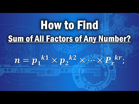 Finding factors of a given number