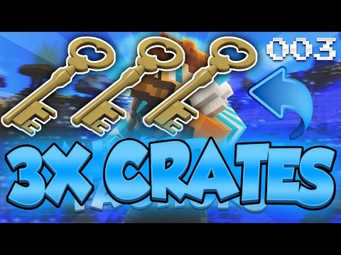 Minecraft Factions: TRIPLE CRATE KEY OPENING! (Episode 3)