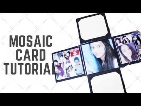 Mosaic Card Tutorial | How to make a grid photo collage | Best scrapbook ideas