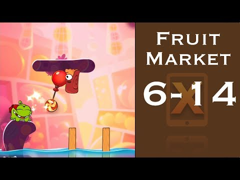 Cut the Rope 2 Walkthrough - Fruit Market 6-14 - 3 Stars + Medal [HD]