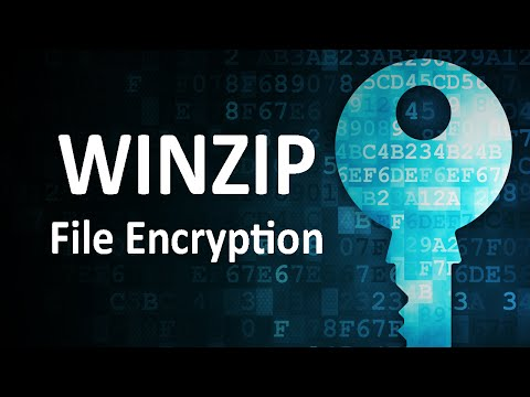Winzip - Securely Encrypt and Password Files
