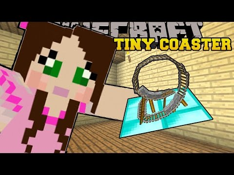 Minecraft: TINY ROLLER COASTER (SMALLEST COASTER YOU CAN RIDE!!) Custom Command