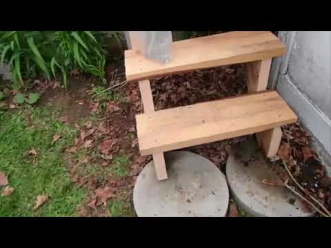 Remaking them broken steps in the back yard continued