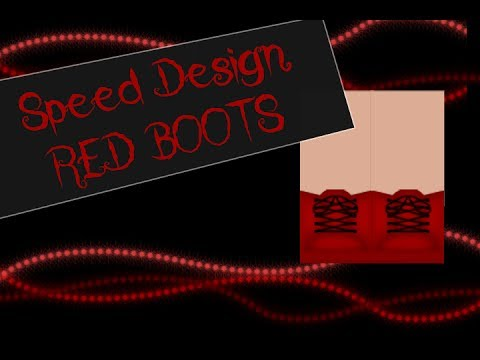 Speed Design Red Boots II ROBLOX