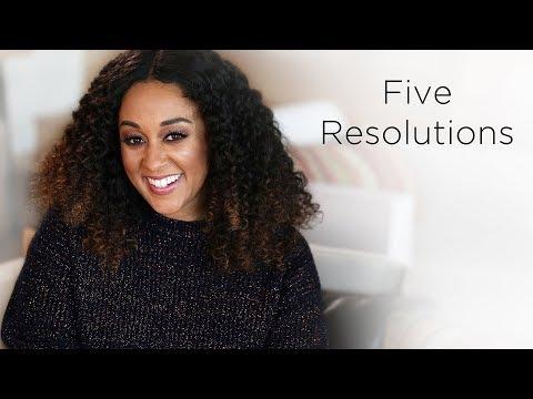 Tia Mowry's 2018 New Years Resolutions