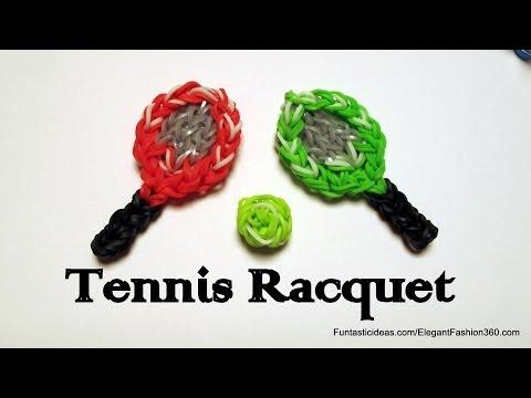 Tennis Racquet Charm - How to Rainbow Loom design -Sport Series