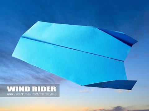 PAPER AIRPLANE for KIDS - How to make a Paper plane that COMES BACK TO YOU | Wind Rider