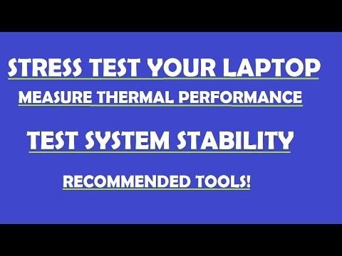 How to check your laptop temperatures and stability