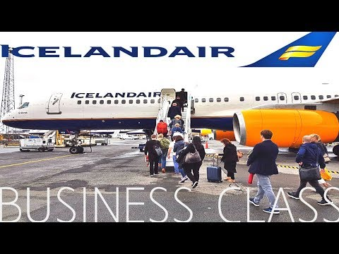 Icelandair BUSINESS CLASS Reykjavik to London|Boeing 757-200
