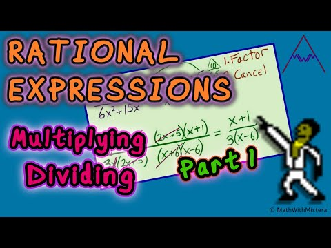 Rational Expressions #6 - Multiplying and Dividing 1 of 3