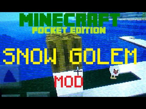Minecraft PE: SNOW GOLEM MOD! (ModPE Script)