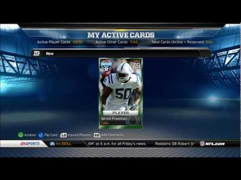 Madden 13: Card Giveaway Updates/Helped another subscriber with his team