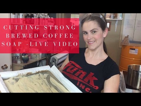 🔴  Cutting Yesterday's Strong Brewed Coffee Soap - Live Video