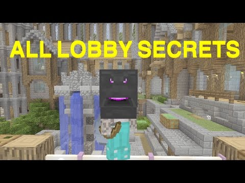 Minecraft console | Minigame Lobby Secrets | HOW TO GET ENDER DRAGON HEAD |