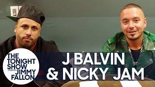 Download J Balvin and Nicky Jam Sing Like SpongeBob SquarePants During Truth or Challenge Video