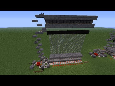 Minecraft Compact Castle Gate Tutorial (No Sand or Gravel) [PC]
