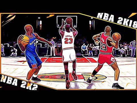 MICHAEL JORDAN full court shots [NBA 2K2 - NBA 2K18]
