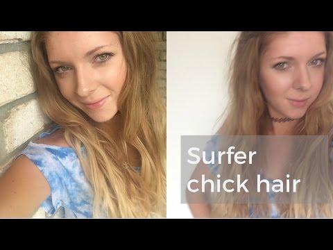 Beach Hair Surfer Chick Style / My Everyday Hair Look / A Girl's World Hair & Beauty