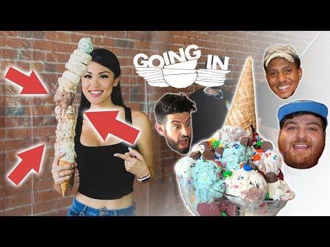 OVER 2-FOOT TALL ICE CREAM CONE!! (w/ Nick Antonyan, Jonah Hill, Seth, Josh Elkin, Anne Phung)