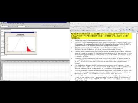 Z Score from Normal Curve Data Minitab vs StatCrunch