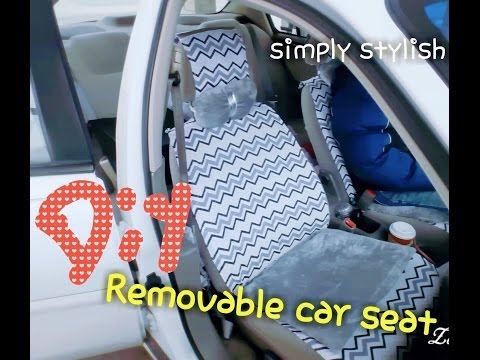 DIY washable and removable car seat cover