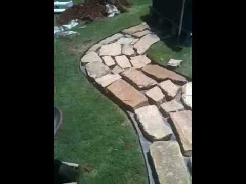 Flagstone/crushed granite walkway pt5