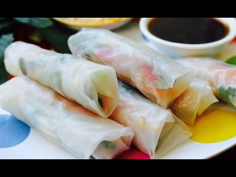 Easy recipe: How to make Vietnamese rice paper rolls