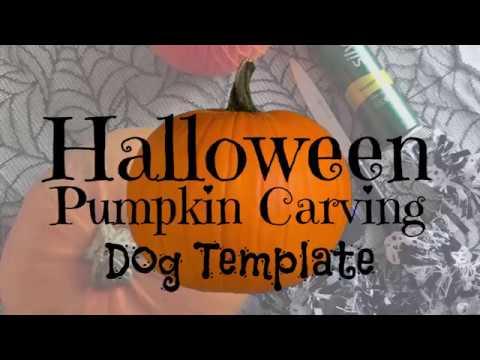 Halloween Pumpkin Carving Tutorial: Dog Stencil
