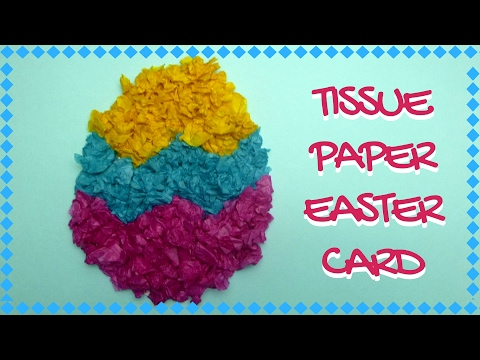 Easter Crafts - Tissue Paper Easter Card