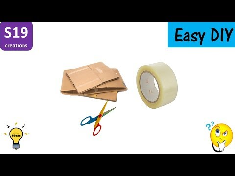 Best out of waste | Desk Organizer | cardboard craft ideas | diy arts and crafts | s19 creations