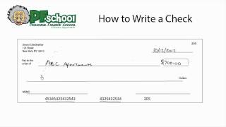 How To Write A Check Checking Account Tips