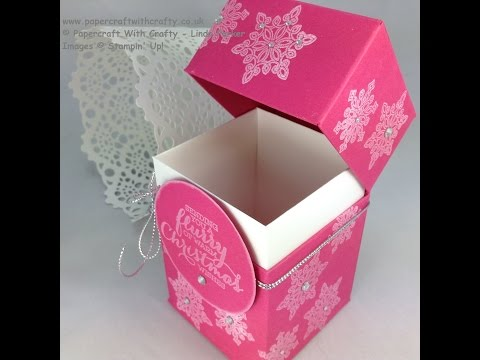 Gift Box with Flush Fitting Hinged Lid