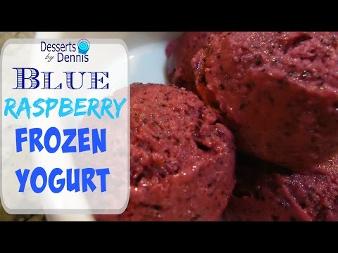 How to Make Frozen Yogurt With Ice Cream Maker--Blueberry & Raspberry Frozen Yogurt
