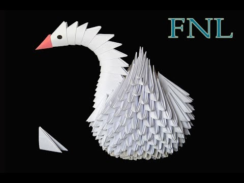 Origami Swan How to make an origami swan or Paper Crane in easy step.