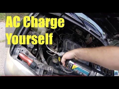 CAR AC System Charge DIY ✔️
