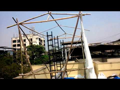 shade net & bamboo structure for Aquaponics Farming