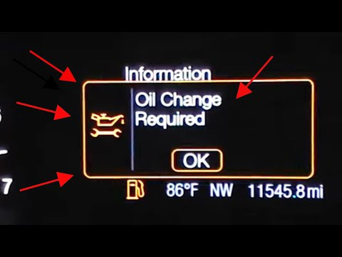 2013, 2014, 2015, 2016 Ford Fusion oil change required reset oil life