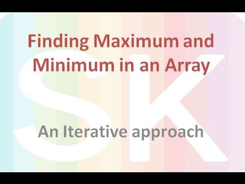 Analysis of Algorithm to find Maximum and Minimum element from an Array-Part -1