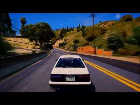 GTA 5 | Drift Training Session | Toyota Trueno (AE86) | Initial D (Mod)