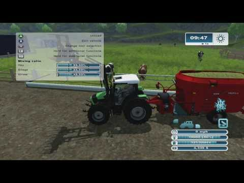 Farming Simulator 2013 Xbox 360 Lets Play ep.20 makeing hay bales and 100% cows