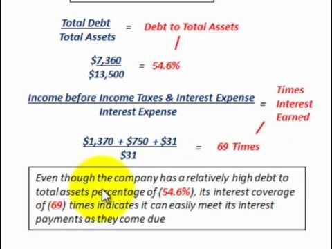 Times Interest Earned Ratio, Debt To Total Assets Ratio, Analyzing Long Term Debt