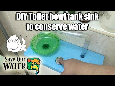 DIY Toilet Bowl Tank Sink - Saving water part 1