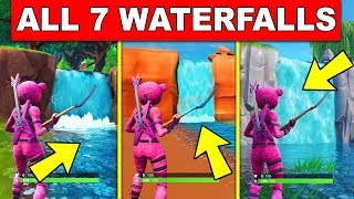 """VISIT DIFFERENT WATERFALLS"" - ALL 7 LOCATIONS (FORTNITE OVERTIME CHALLENGES)"