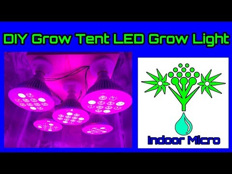 Building a Cheap DIY Grow Tent LED Grow Light