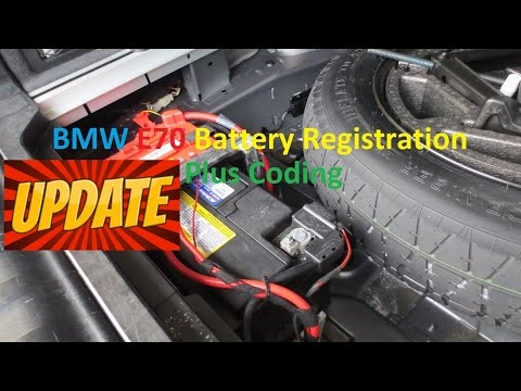 **UPDATE** BMW E70 X5 Battery Registration and Coding.  Switch from AGM to Lead Acid