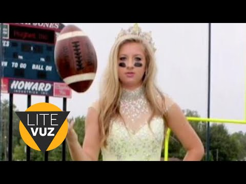 Homecoming Queen Doubles as High School Football Player