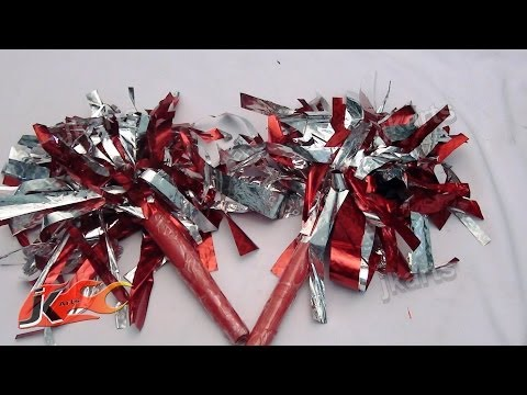 DIY How to make Cheer leading Pom Poms (School Project for kids) - JK Arts 111