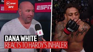 Dana White explains Greg Hardy bizarre inhaler incident