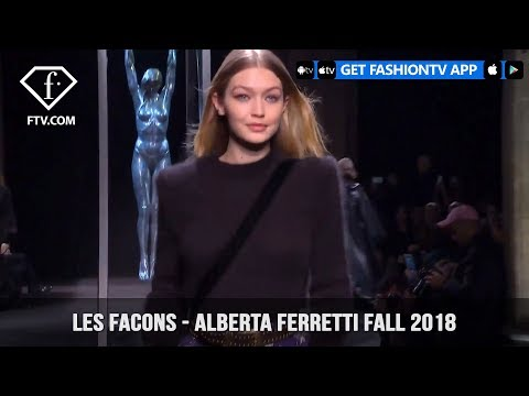 Gigi Hadid and Kaia Gerber at Les Facons Alberta Ferretti Fall 2018 | FashionTV | FTV