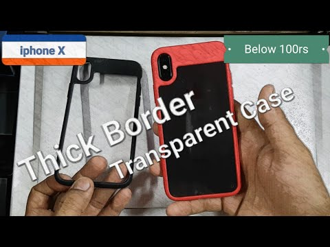 iphone X Thick Border Transparent Back Covers